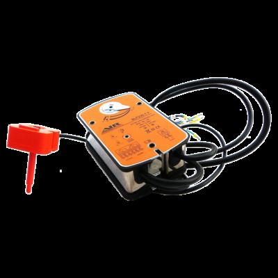 Электропривод c возвратной пружиной и термодатчиком